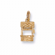 9ct Gold Wishing well pendant 2.3g